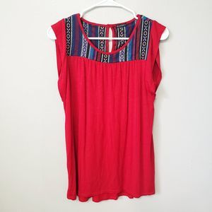 Hannah Mexican Embroidered Tank Top